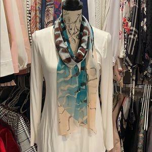 White house black market palm scarf